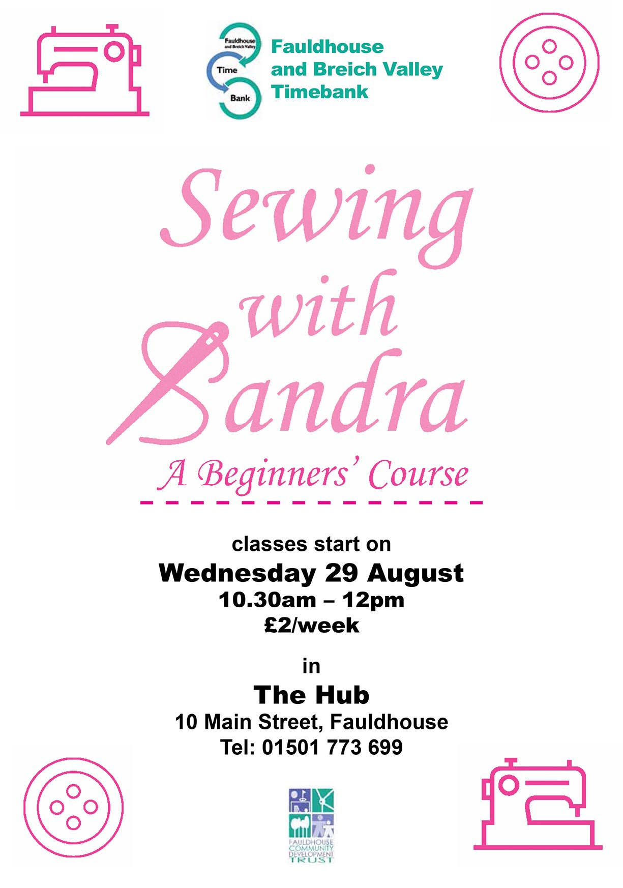 Sewing with Sandra @ The Hub | Fauldhouse | United Kingdom