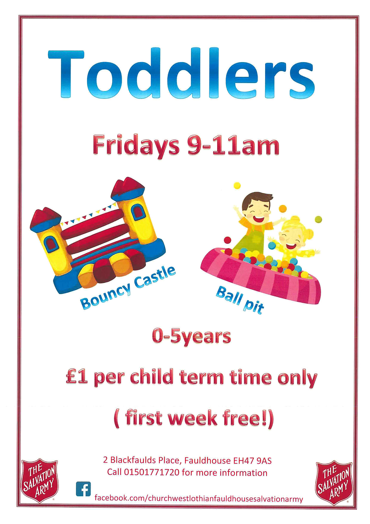Salvation Army Toddlers @ Salvation Army | Fauldhouse | Scotland | United Kingdom
