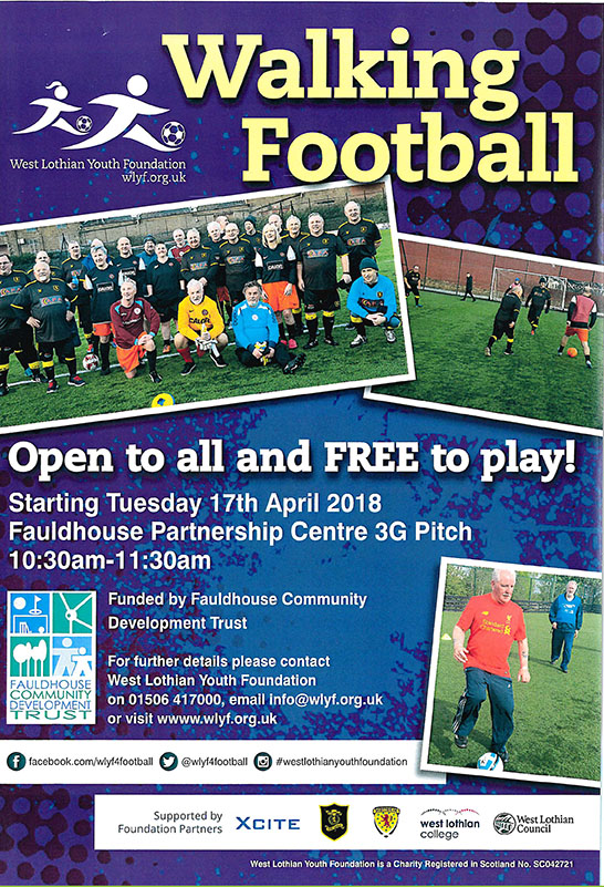 Walking Football @ Fauldhouse Partnership Centre, 3G Pitch | Fauldhouse | Scotland | United Kingdom