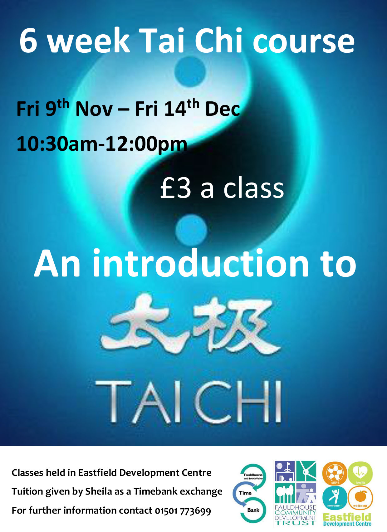 An introduction to Tai Chi @ Eastfield Development Centre