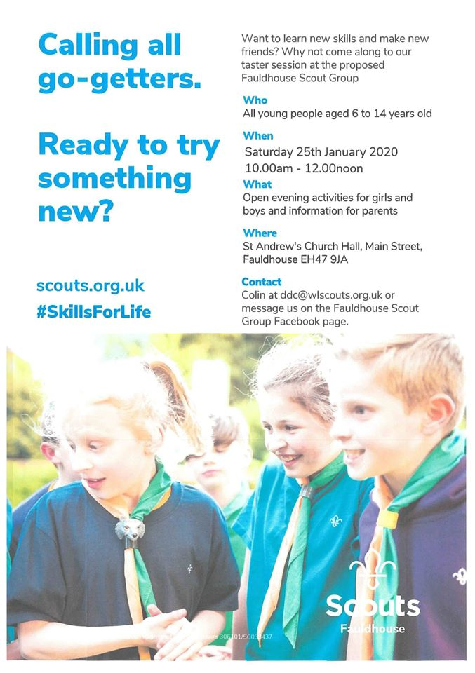 Taster Morning - Fauldhouse Scout Group @ St Andrew's Church Hall